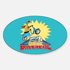 Geek Daredevil Jump Oval Decal
