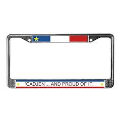 'CADJEN' Acadian-Cajun License Plate Frame