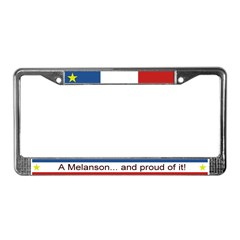 MELANSON Personalized License Plate Frame