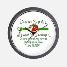 Cute Christmas nurse Wall Clock