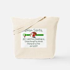 Cute Nurse christmas Tote Bag