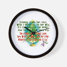 Funny Christmas nurse Wall Clock