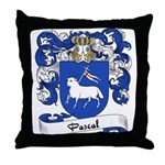 Pascal Family Crest Throw Pillow