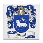 Pascal Family Crest Tile Coaster