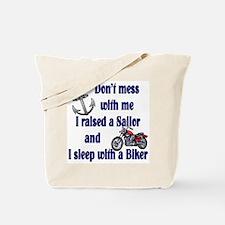Navy Mom Sleep with a Biker Tote Bag