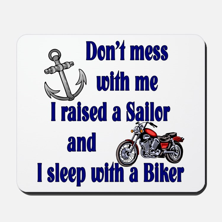 Navy Mom Sleep with a Biker Mousepad