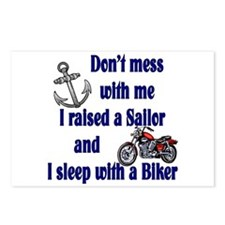 Navy Mom Sleep with a Biker Postcards (Package of