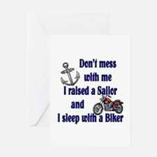 Navy Mom Sleep with a Biker Greeting Card