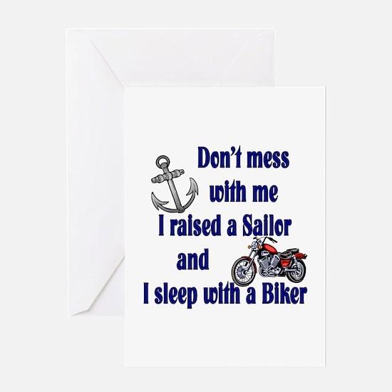 Navy Mom Sleep with a Biker Greeting Card