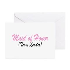 Maid Of Honor (Team Leader) Greeting Cards (Pk of