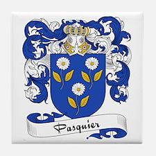 Pasquier Family Crest Tile Coaster