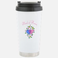 Maid Of Honor (Hearts) Stainless Steel Travel Mug