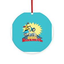 Geek Daredevil Jump Ornament (Round)