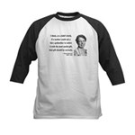 Eleanor Roosevelt 9 Kids Baseball Jersey