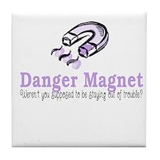 Danger Magnet Trouble Tile Coaster