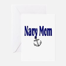 Navy Mom with anchor Greeting Cards (Pk of 10)