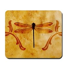 Artistic Vintage Dragonfly Mousepad