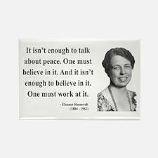 Eleanor Roosevelt 10 Rectangle Magnet