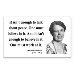 Eleanor Roosevelt 10 Rectangle Decal
