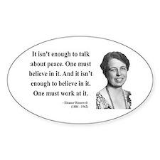 Eleanor Roosevelt 10 Oval Decal