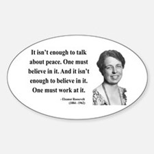 Eleanor Roosevelt 10 Oval Decal