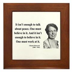 Eleanor Roosevelt 10 Framed Tile