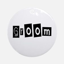 Groom (Square) Ornament (Round)