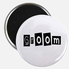 "Groom (Square) 2.25"" Magnet (10 pack)"