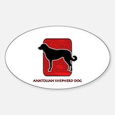 Anatolian Shepherd Dog Oval Decal
