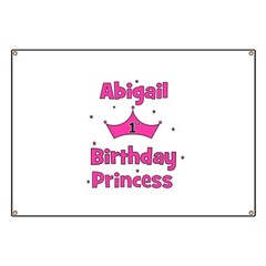 1st Birthday Princess Abigail Banner