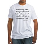 Eleanor Roosevelt Text 10 Fitted T-Shirt