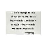 Eleanor Roosevelt Text 10 Rectangle Magnet (10 pac