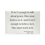 Eleanor Roosevelt Text 10 Rectangle Magnet