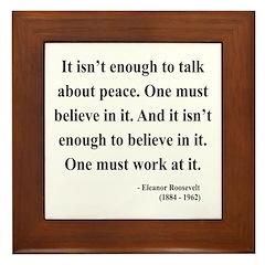 Eleanor Roosevelt Text 10 Framed Tile
