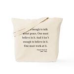 Eleanor Roosevelt Text 10 Tote Bag