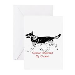 AFTM German Shepherd BW Greeting Cards (Pk of 10)