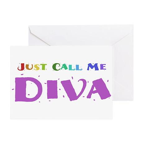 Diva Greeting Card