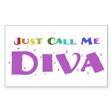 Diva Rectangle Decal