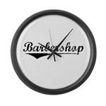 barbershop Large Wall Clock