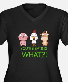 You're eating WHAT! dark Women's Plus Size V-Neck