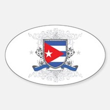 Cuban Shield Oval Decal