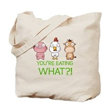 You're eating WHAT! dark Tote Bag
