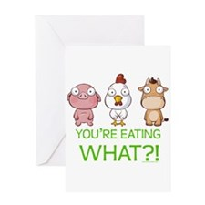 You're eating WHAT! dark Greeting Card