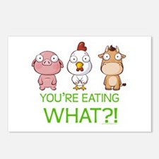 You're eating WHAT! dark Postcards (Package of 8)