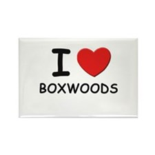 I love BOXWOODS Rectangle Magnet