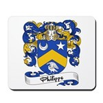 Philippe Family Crest Mousepad