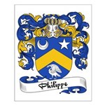 Philippe Family Crest Small Poster