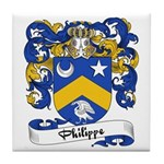 Philippe Family Crest Tile Coaster