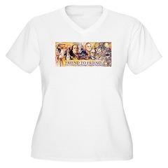Friend to Friend Women's Plus Size V-Neck T-Shirt