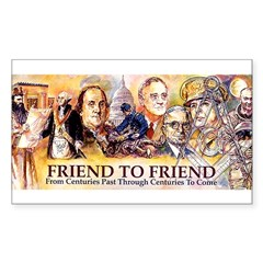 Friend to Friend Rectangle Sticker 50 pk)